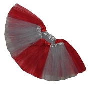 Girls to Plus Size Team Spirit Tutu RED GREY
